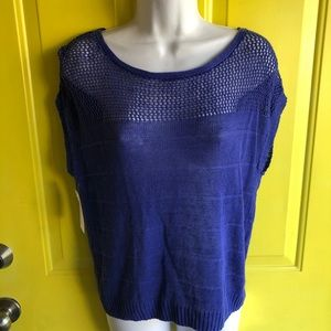 Brilliant Blue knit lightweight Mossimo blouse S